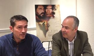 Jim Caviezel with Peter Wooding smaller