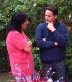 Mark Joseph chatting with Alice Cooper smaller