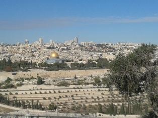 Mt of Olives fiew of Jerusalem smaller