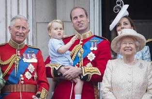 Prince William with the Queen smaller