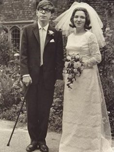 Stephen Hawking and wife