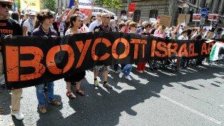 boycott israel protest smaller