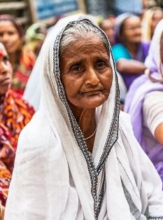 widow wears white sari india smaller