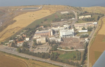 mi The Poriya Ridge Hospital in The Galilee from the air 04 13 2018