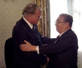 Billy Graham with Kim Il sung
