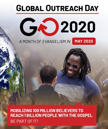 Global Outreach Day On Mission to Mobilize 100 Million Christians to Reach 1 Billion People with the Gospel