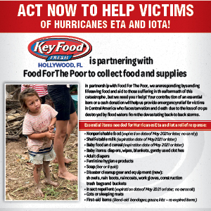 Supermarket Chain Collects Relief Items for Central America Hurricane Aid