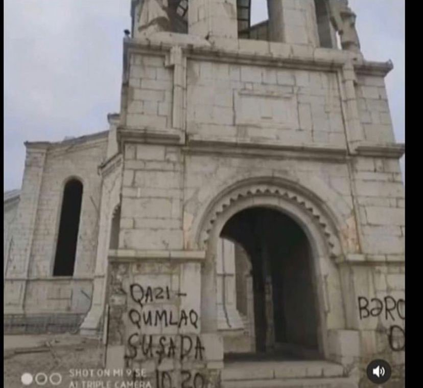 Armenian Christian Holy Sites in Nagorno-Karabakh Desecrated by Azerbaijani Soldiers