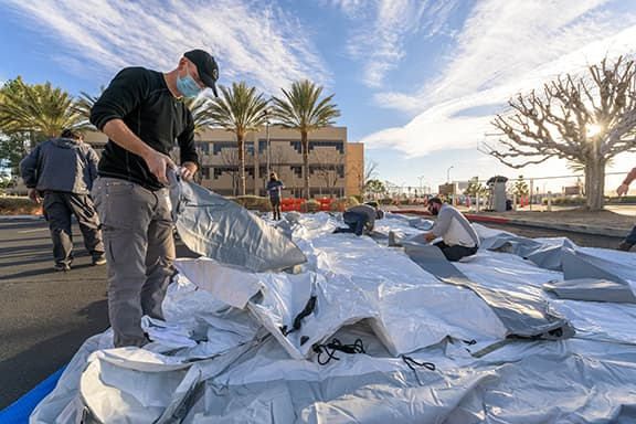 Samaritan's Purse Deploys Emergency Field Hospital to Los Angeles County