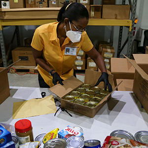 Food For The Poor Collects Canned Goods to Help Families in Haiti Suffering from Coronavirus, Gang Violence, and Civil Unrest