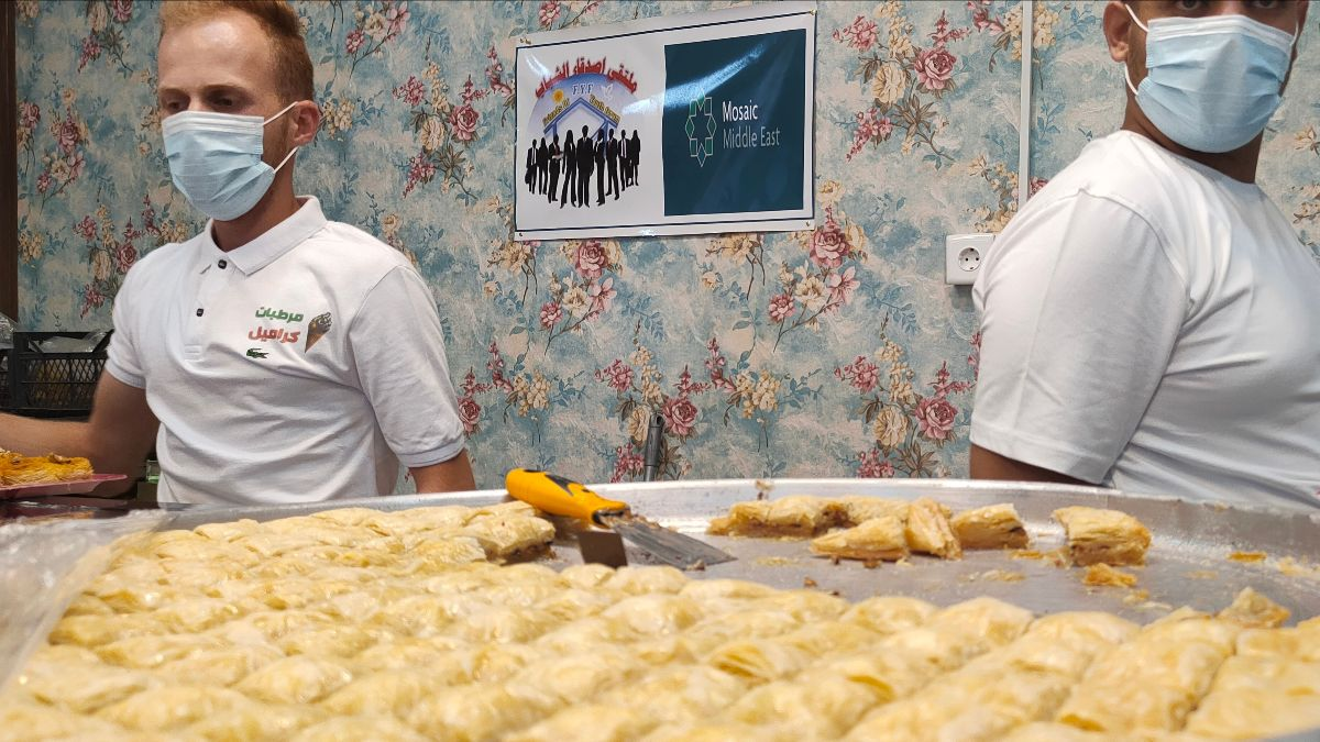 Mosaic Middle East Team's Ice Cream and Pastry Shop Reopens in Northern Iraq, Providing Jobs for Youth